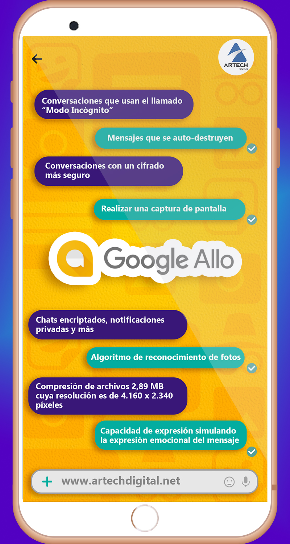 artech digital - infografia - Ventajas del Google Allo
